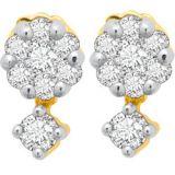 Avsar Real Gold And Diamond Pressure Set Earrings Ave020