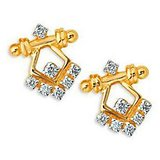 Wimsical Rajastani Diamond Earring Studded With Real Gold And Diamonds (Bge075)
