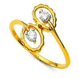 Bling Diamond Accessories Daily Wear Two Stone Bridal Hand Made With Real Gold And Diamonds Rings Bgr031