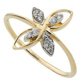 Bling Diamond Accessories Daily Wear Real Gold And Diamond Traditional Ring Bgr039
