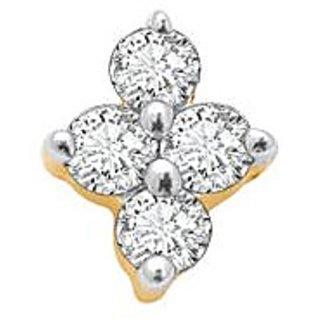 Avsar Real Gold And Diamond 4 Stone Pressure Set Nosering Avno004
