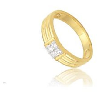 Avsar Real Gold And Diamond Four Stone Gents Ring Avr003