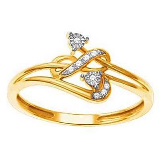 Bling Diamond Accessories Daily Wear Fancy Ribbon Shape Diamond Ring Hand Made With Real Gold And Diamonds Bgr059