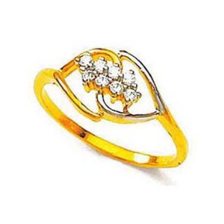 Bling Diamond Accessories Daily Wear Eight Stone Romantic Heart Shape Diamond Ring Hand Made With Real Gold And Diamonds Bgr063