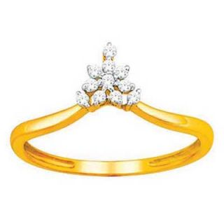 Bling Diamond Accessories Daily Wear Princess Crown Shape Diamond Ring Hand Made With Real Gold And Diamonds Bgr066