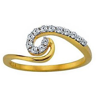 Bling Diamond Accessories Daily Wear Extra Curve Fancy Diamond Ring Hand Made With Real Gold And Diamonds Bgr070