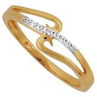 Bling Diamond Accessories Daily Wear Dandling String Diamond Ring Hand Made With Real Gold And Diamonds Bgr085