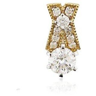 Unique Solitaire Diamond Studio  Carat Fashion Pendant In Yellow Gold Uqp003