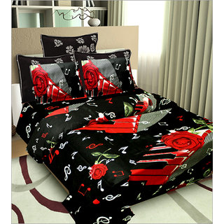Little Joy Beautifull Floral Double Bedsheet With Two Pillow Cover
