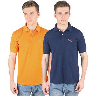 Multi-Color Cotton PRO Lapes Men's Polo T-Shirt Set of 2 (PL2M1304-10)