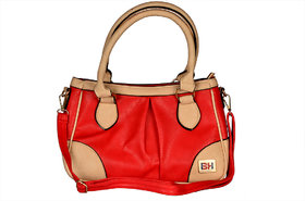 BH Wholesale Market Designer, Imported & Fashionable, New Arrival PU Leather Shoulder & Hand Bag For Women (Red) With Huge Discount