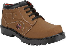Vonc Brown Ankle Length Mens Boot