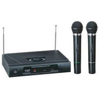 MEDHA Professional Vhf Series 2 in 1 Dual Wireless / Cordless Microphone