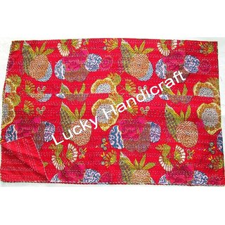 Kantha Handmade Cotton Bed Cover