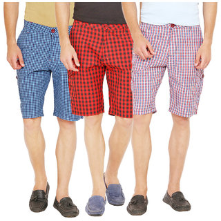 Factorydirect Men's Multicolor Shorts (Set of 3)