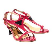 Synthetic Leather Nell Ladies Red Footwear (Rk-1066)