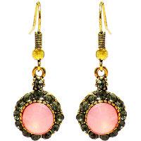Jewelz Sparkling Pink Hanging Earring