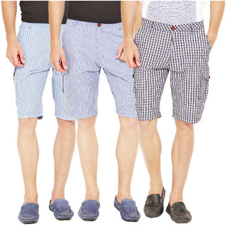 Factorydirect Men's Black Shorts (Set of 3)