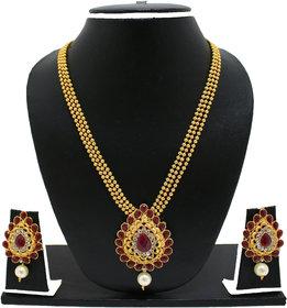 Zaveri Pearls Exotic Haram Necklace Set-ZPFK2697