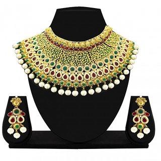 6ccb223593aaa Zaveri Pearls Gorgeous Elegant Jodha Necklace Set for Women -ZPFK2380