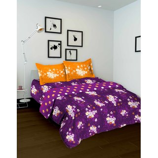 Tomatillo  100% Cotton  single bedsheet with 1 pillowcover  1445252