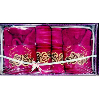 Bath Robe Set 8 Pcs Set (Design2)