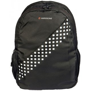 Harissons - Square - Black - Office/College Backpack
