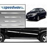 Speedwav Full Chrome Side Beading For Toyota Corolla Altis - Silver