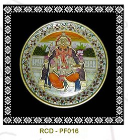 Marble Plate with Hand Painted Lord Ganesh