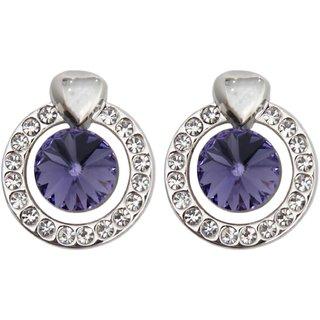 Swan Silver Crystal Stud Earrings