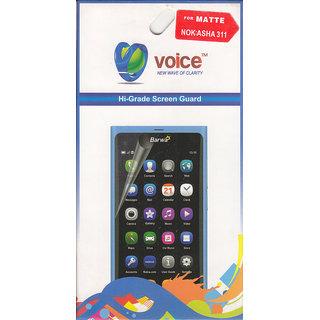 KMS Voice Hi-Grade Matte Screen Guard For Nokia Asha 311