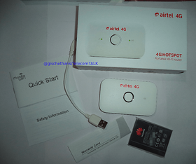 Airtel 4g Wifi Router Support Airtel 4g/3g/2g simcards Wifi Share Up To 8 Device