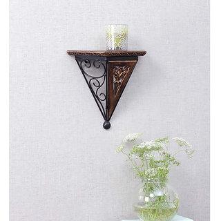 Online shoppee Wood Wrought Iron Fancy Wall Bracket