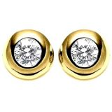 Ag Real Diamond Solitaire Diamond Fancy Earring Agse0064