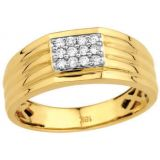 Ag Real Diamond Stone Classic Gents Ring Agsr0062