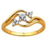 Ag Real Diamond Trilliant Flower Look Diamond Ring Agsr0188