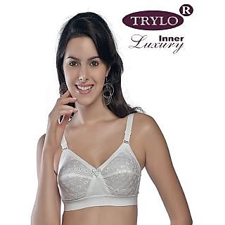 8ea9ed36dc TRYLO KRUTIKA CHIKEN WHITE BRA-2PCS SET-42D at Best Prices ...