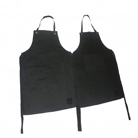 Tidy Dark Green Plain Cotton Kitchen Chef Apron Pack of 2 Pcs