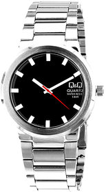 Q&Q Quartz Black Round Men Watch Q544N202Y