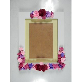 ClayKraft Glass Floral Photo Frame