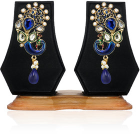 Zaveri Pearls Fancy Peacock Drop Earring-ZPFK3565