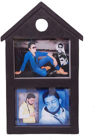 Onlineshoppee Wooden and Antique Photo Frame Size(LxBxH-9x1x15) Inch Color-Brown