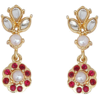 Touchstone Glamorous Gold Plated Earrings