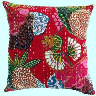 5 pec Vintage Kantha Cushion Covers