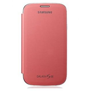 KMS Flip Cover for Samsung Galaxy S3 (Chrome Pink)