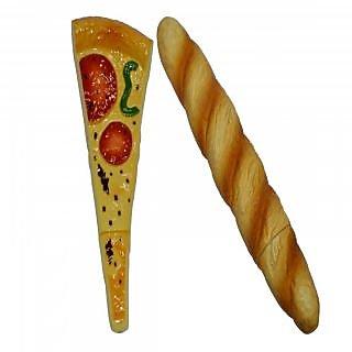 Knott Pizza & Baguette shape fancy writing pen Combo