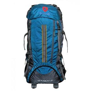 Gleam Mountain Rucksack/Hiking/trekking bag75Ltrs SkyBlue & Grey with Rain Cover