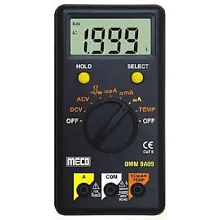 Meco DMM 9A09 Digital Multimeter 1999 Count, Auto Ranging,