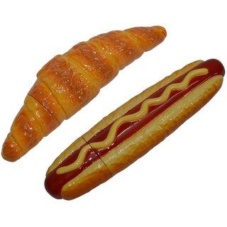 Knott Croissant & Hotdog shape fancy writing pen Combo