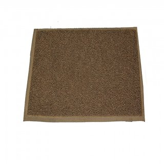 Ritika Carpets PVC Medium Door Mat plain grey